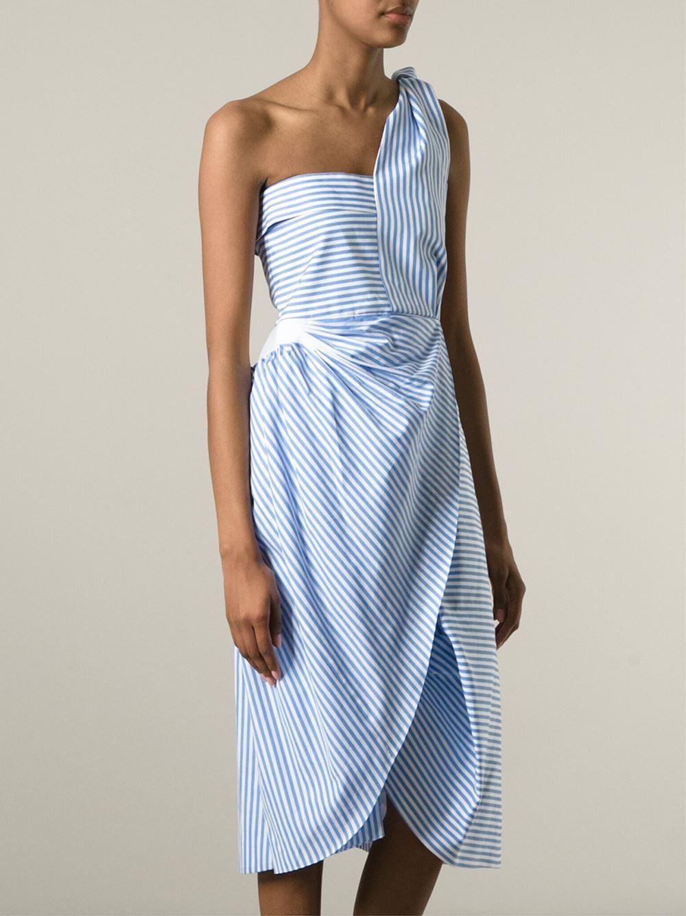 asymmetric dress - Blue J.W.Anderson X3Q8n8DCP