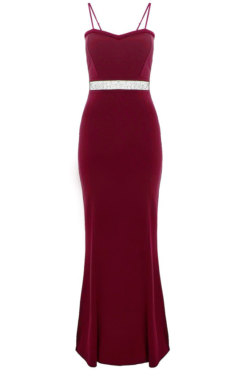 Red quiz maxi dress