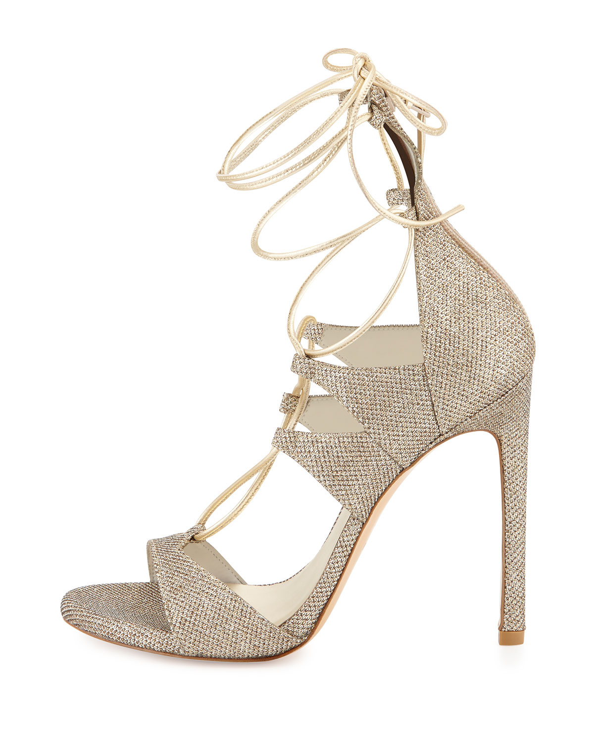 amazon online finishline Stuart Weitzman Lace Glitter Sandals discount how much clearance Manchester Qwy4WE2M8m