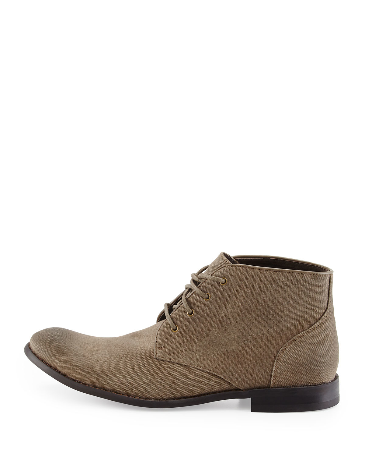 John varvatos Classic Canvas Chukka Boot in Brown for Men | Lyst