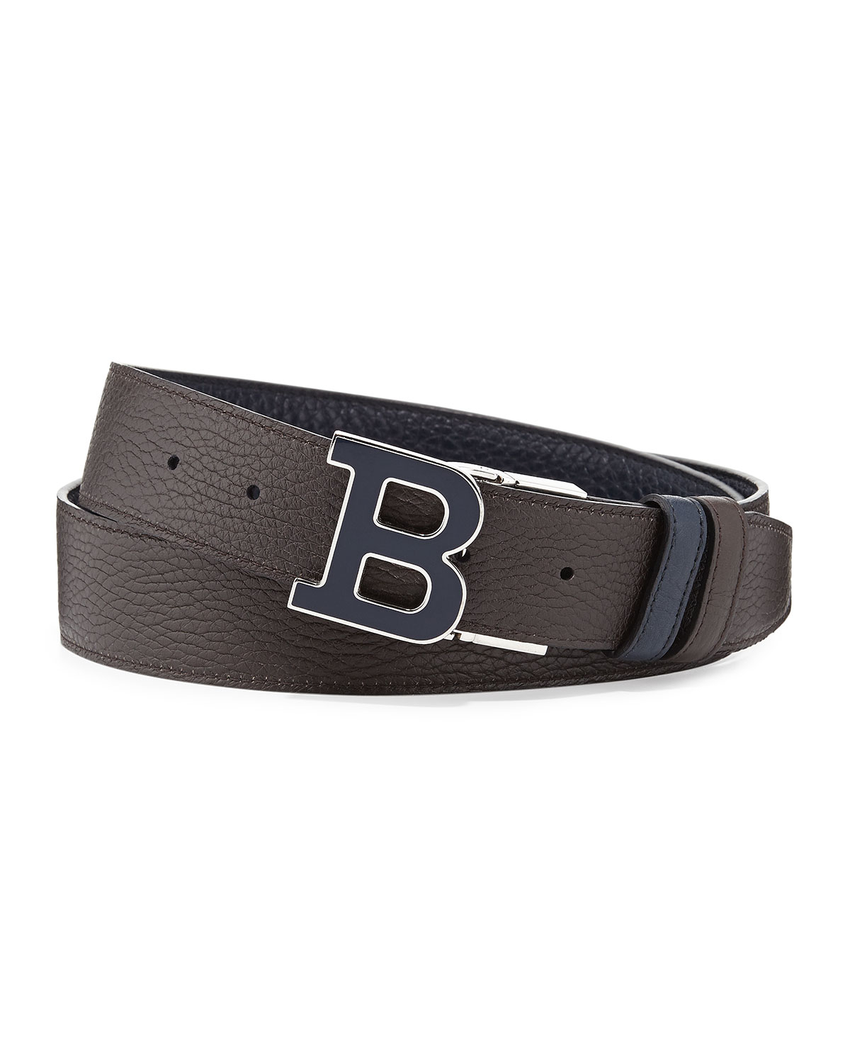 Lyst Bally Calf Leather B Buckle Belt In Blue For Men