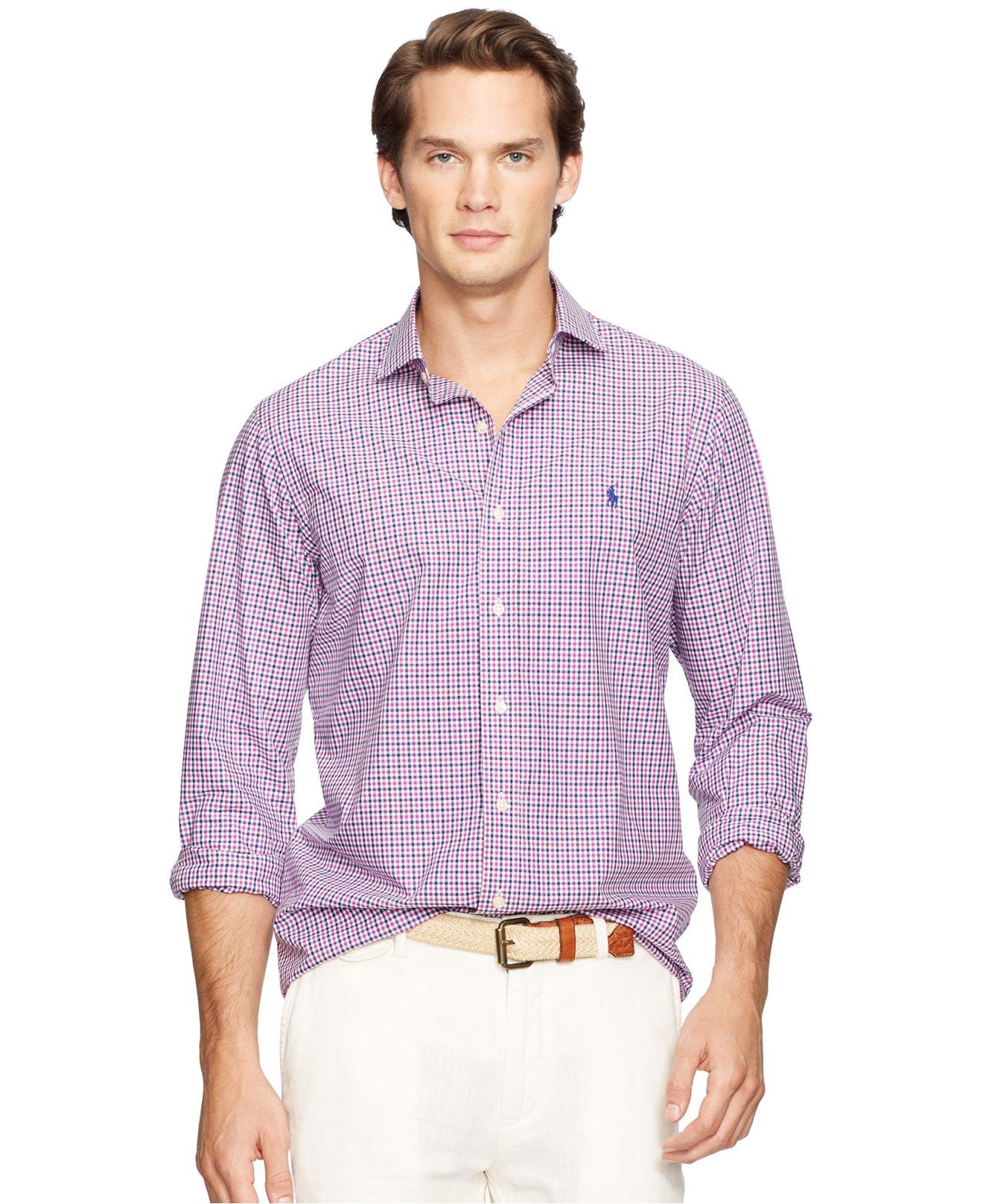 9c19282202 Polo Ralph Lauren Men's Poplin Linen Estate Shirt in Purple for Men ...