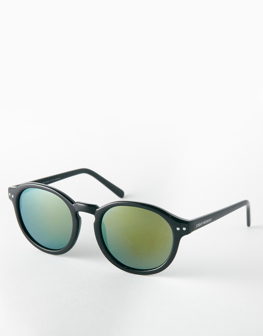 Cheap Monday Round Sunglasses in Black for Men
