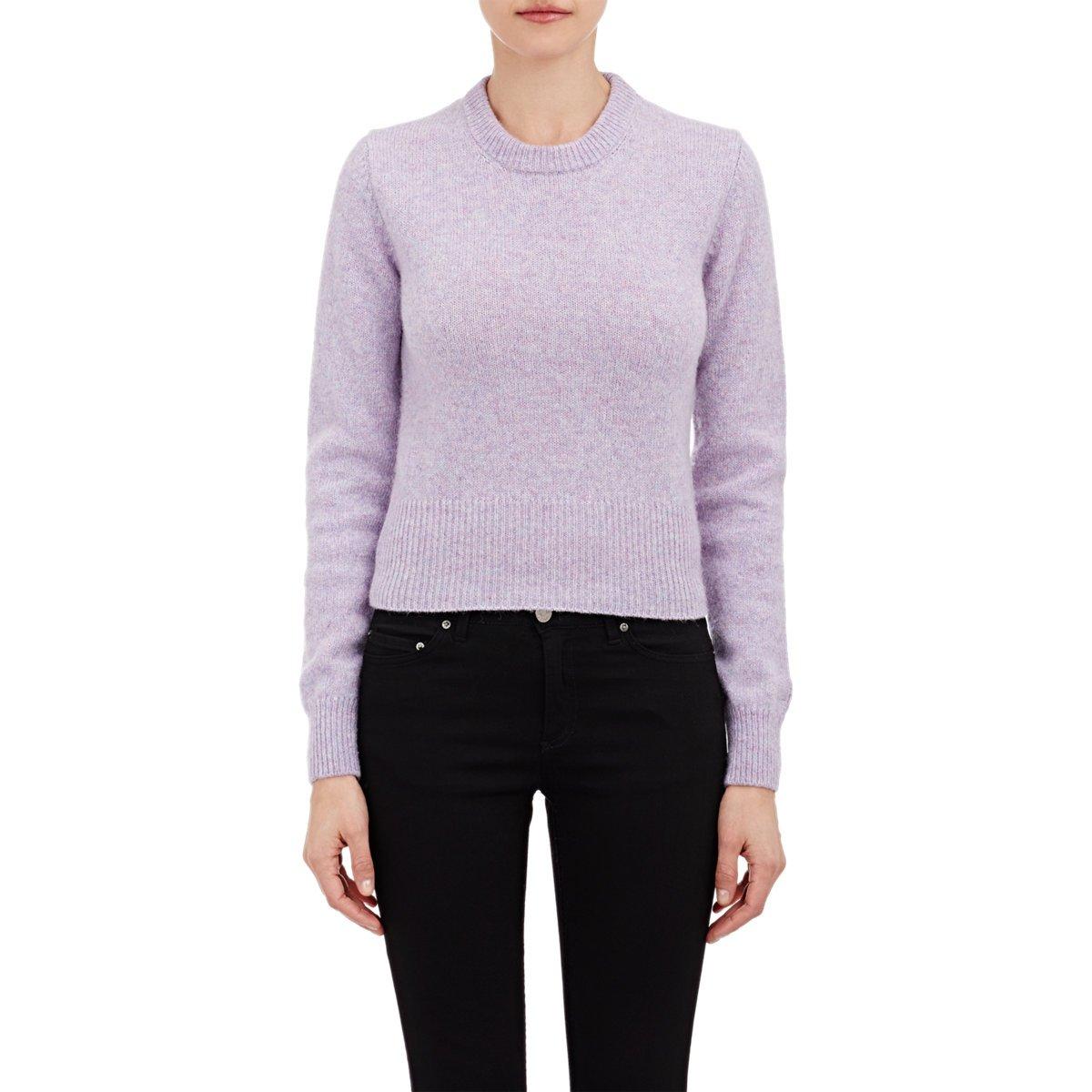 Acne studios Crop Henrietta Sweater in Purple | Lyst