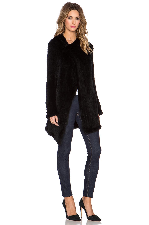 Lyst June Oversized Rabbit Fur Coat In Black