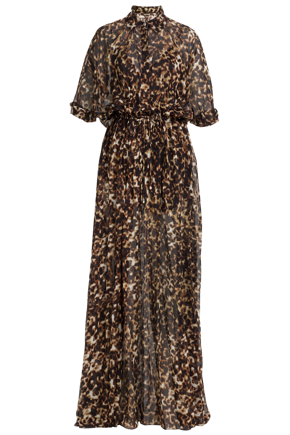 Roberto cavalli Printed Silk Chiffon Maxi Dress - Animal Prints | Lyst