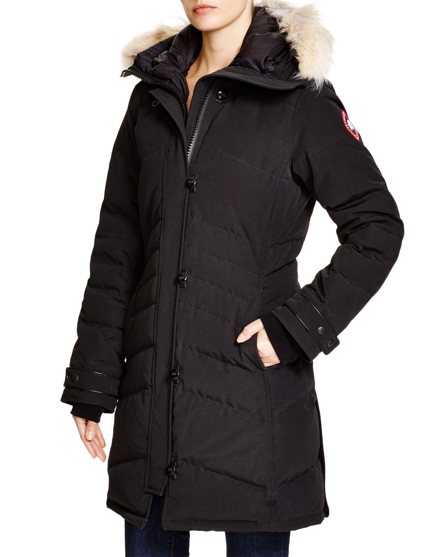 Canada Goose langford parka sale store - Canada goose Lorette Coyote Fur Trim Down Coat in Black   Lyst
