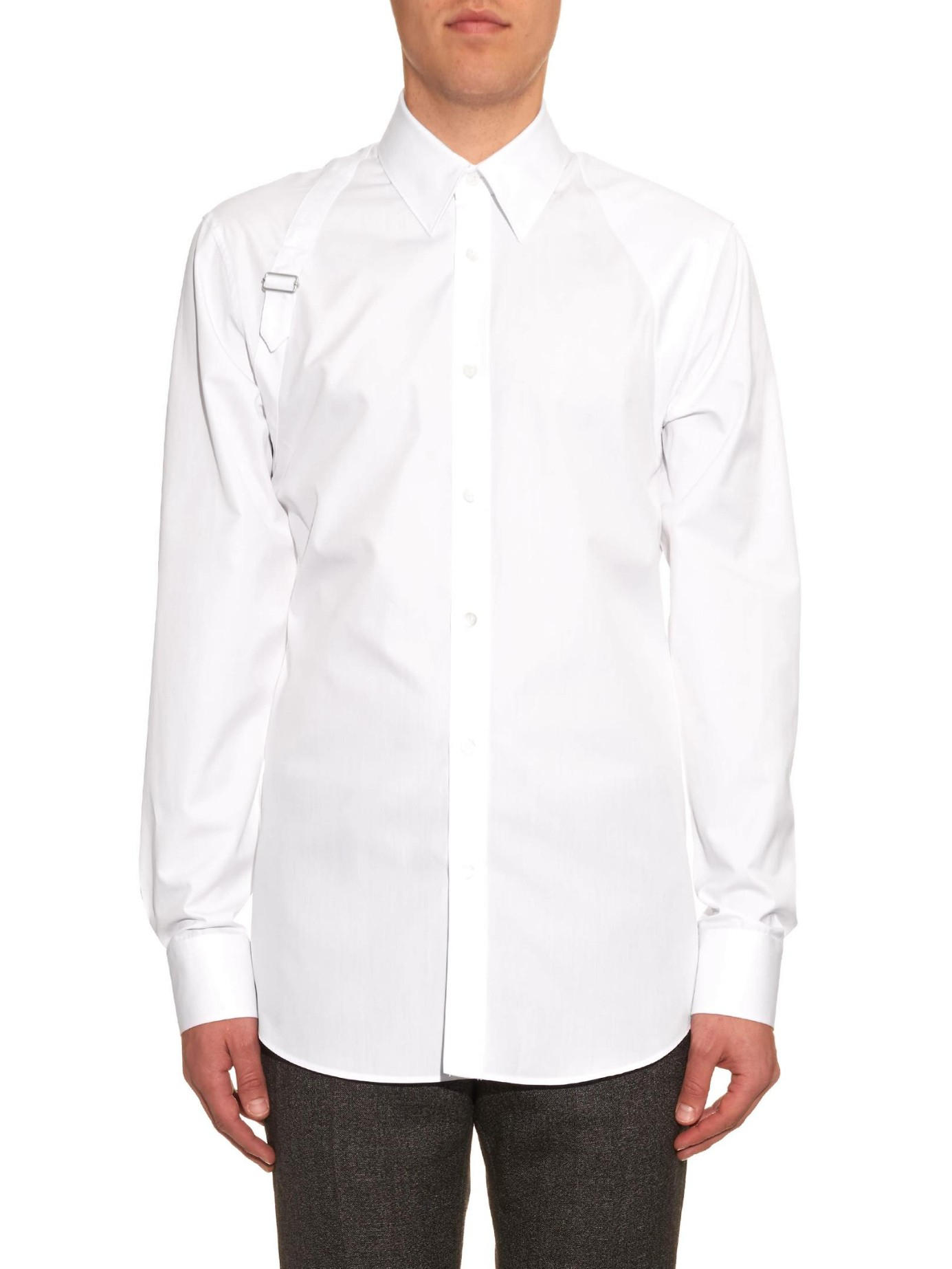 Top Quality Buy Cheap Visit Cotton-poplin Shirt - White Alexander McQueen WW6uHMn85
