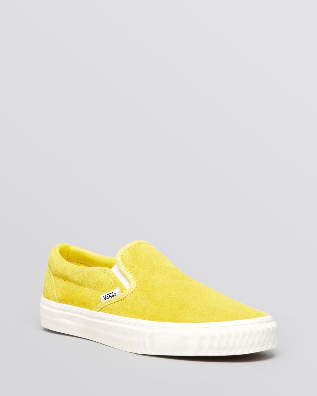 b55b5f9c3c Lyst - Vans Flat Slip On Sneakers - Vintage Suede Classic in Yellow