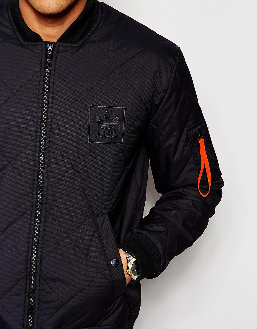 lyst originali adidas superstar giacca imbottita aj7881 in nero per gli uomini.