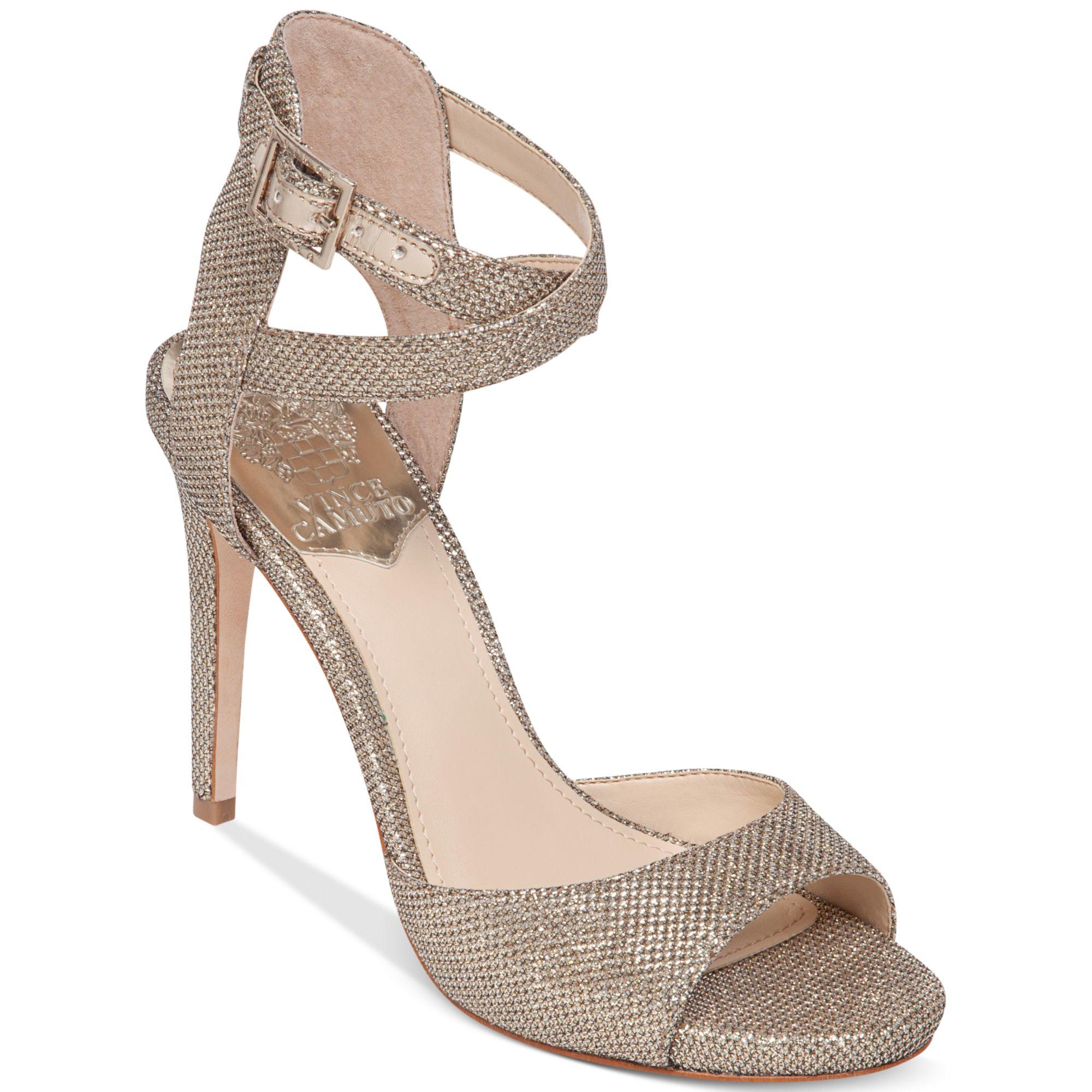 Vince Camuto Faunora High Heel Evening Sandals In Beige