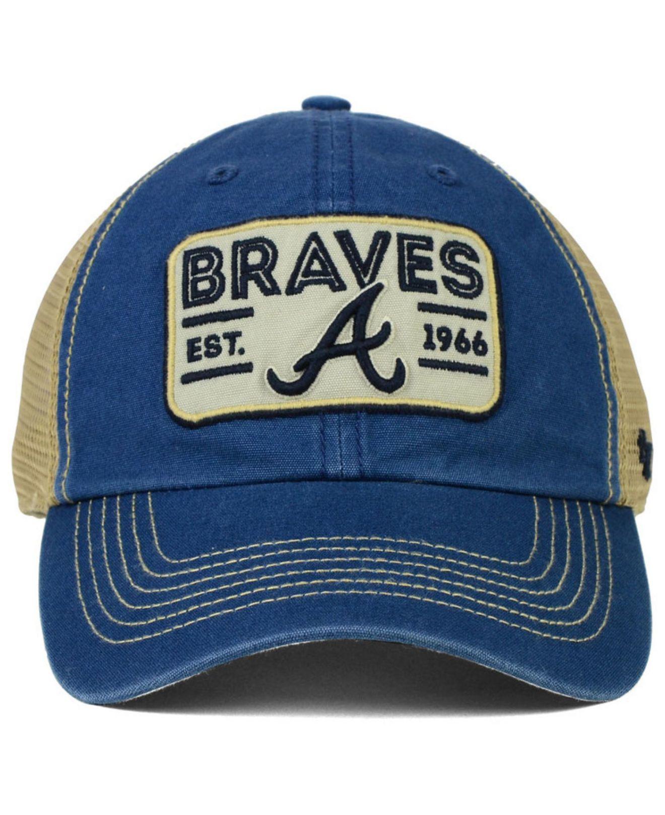 e2f8a9b2f8986 47 Brand Atlanta Braves Goin Yard Mesh Cap in Blue for Men - Lyst