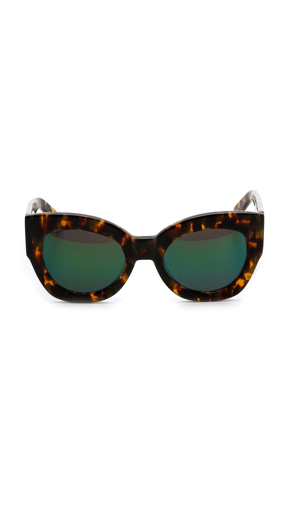 Karen Walker Mirrored Sunglasses  karen walker superstars collection northern lights mirrored