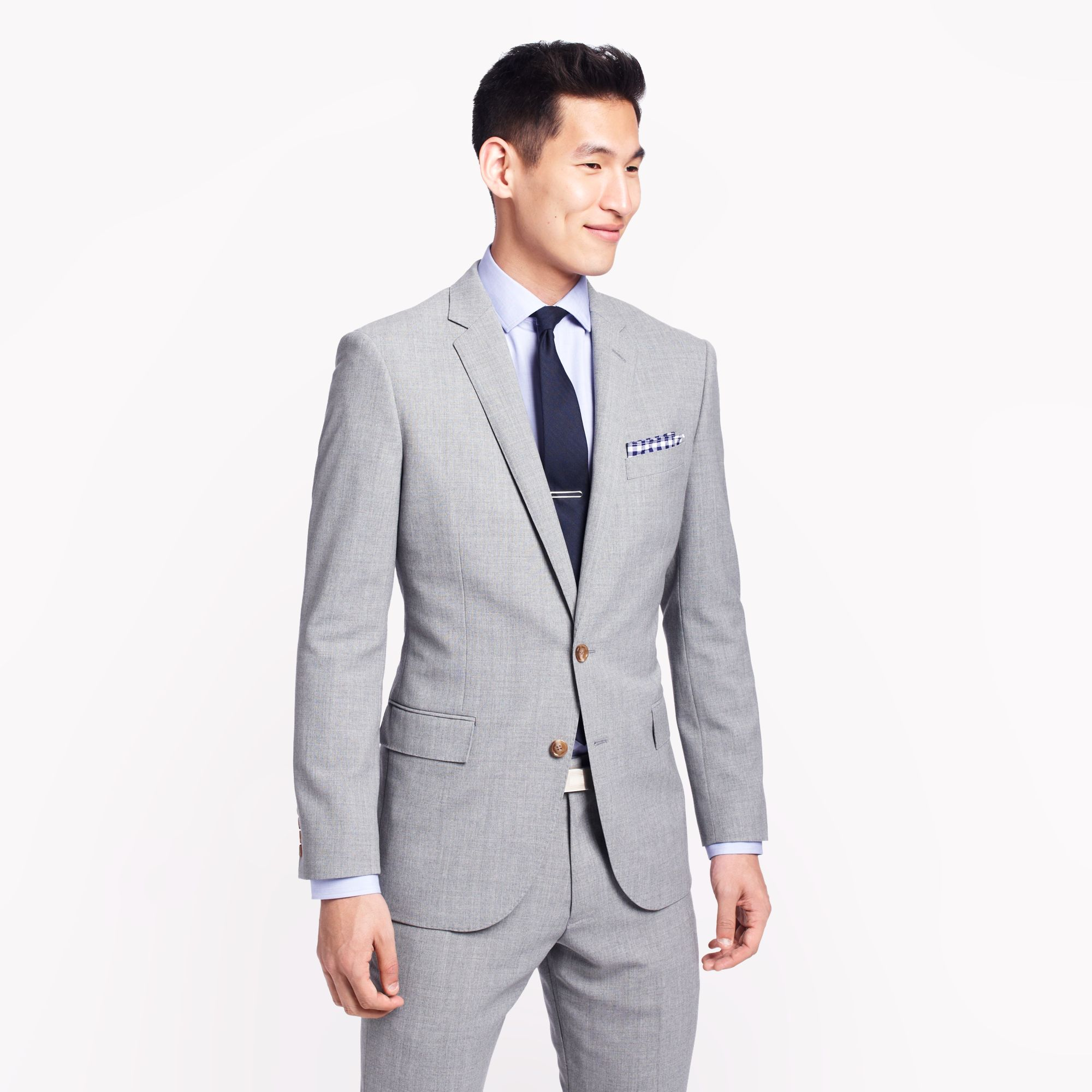 fa2ae1fec52519 J.Crew Ludlow Suit Jacket with Double Vent in Light Charcoal Italian ...