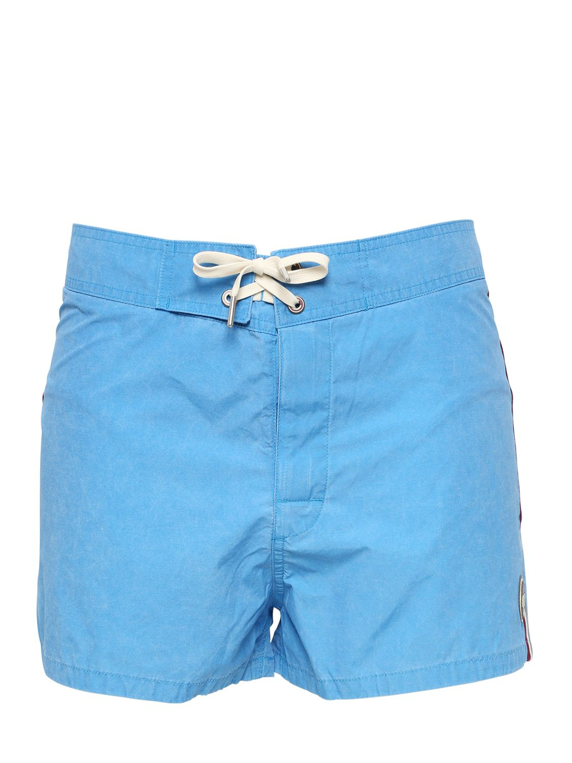 Lyst colmar nylon swimming shorts in blue for men for Blue piscine colmar