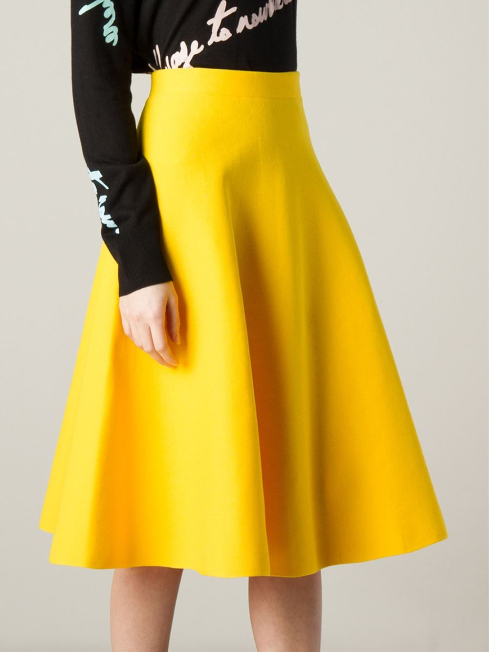 Yellow A Line Skirt - Dress Ala