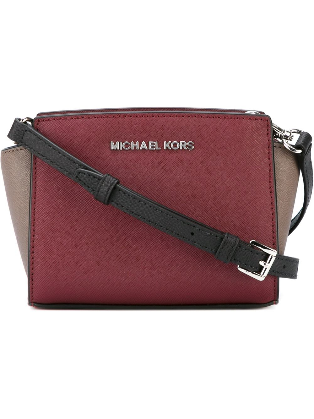 michael michael kors mini 39 selma 39 crossbody bag in red lyst. Black Bedroom Furniture Sets. Home Design Ideas