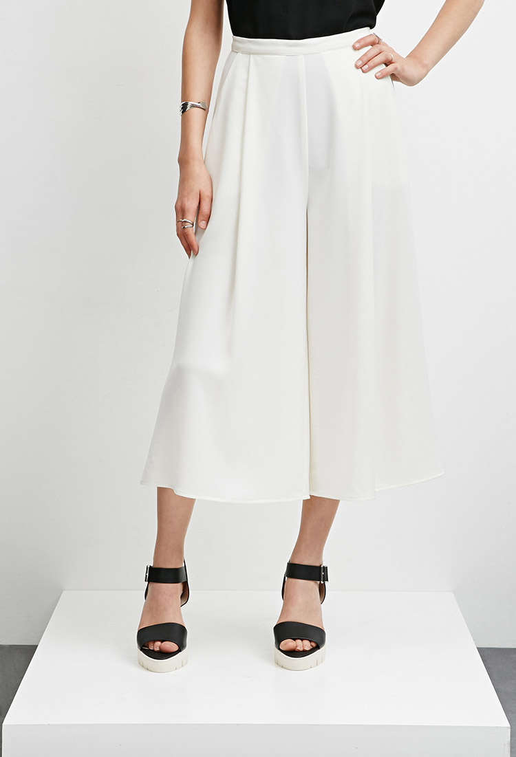 87d7997b3f Forever 21 The Fifth Label Sun And Moon Culottes in White - Lyst