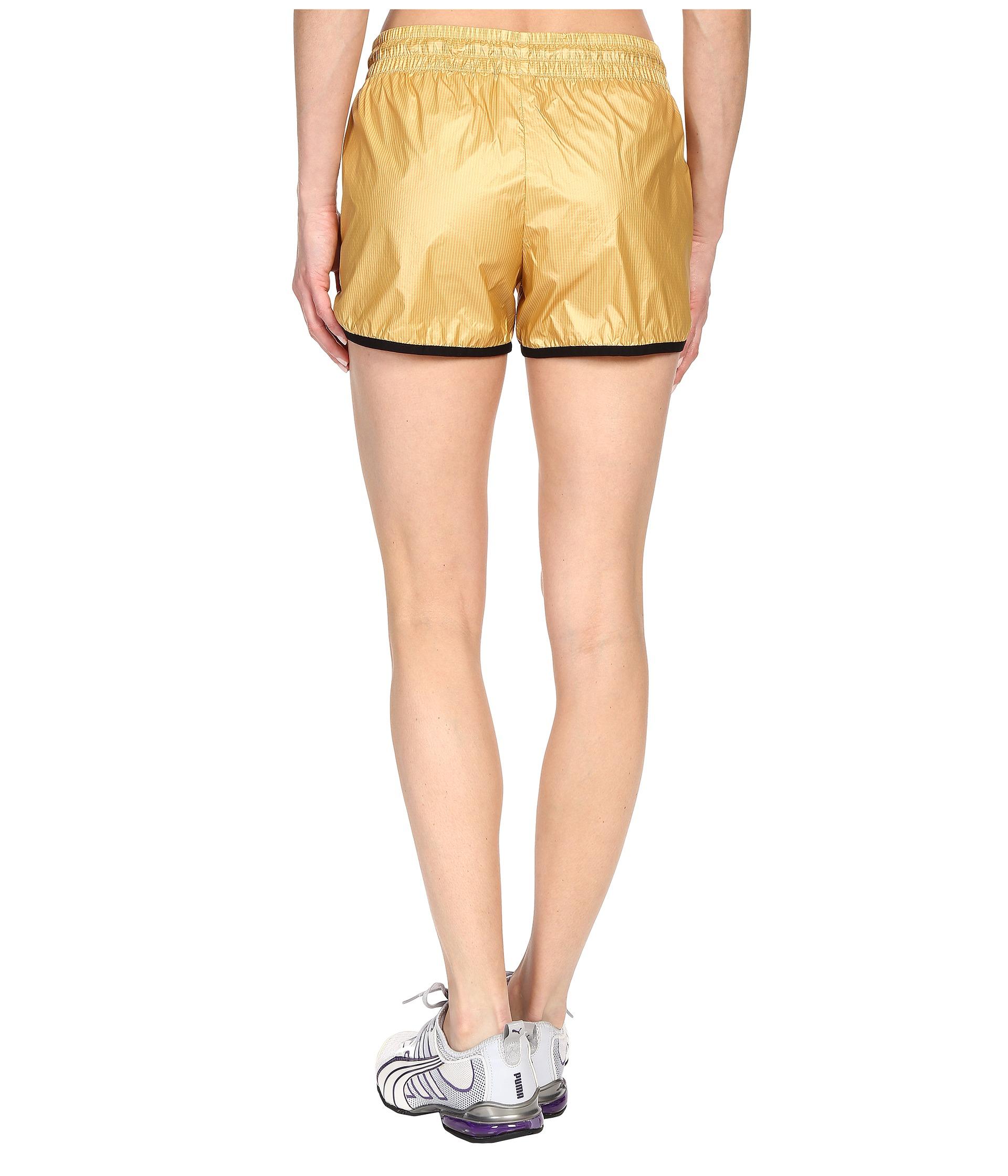 acdd05172493 Lyst - PUMA Gold Shorts in Metallic