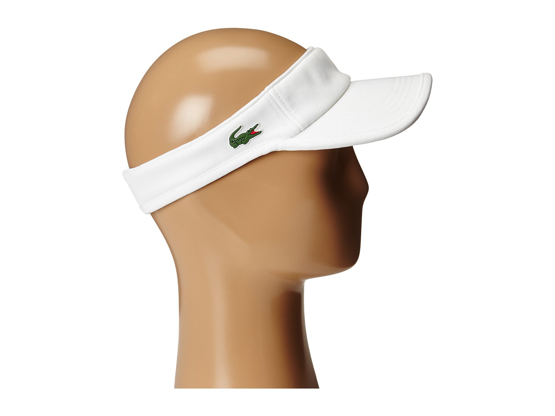 Lyst - Lacoste Pique Visor in White for Men 1bc00461a4d