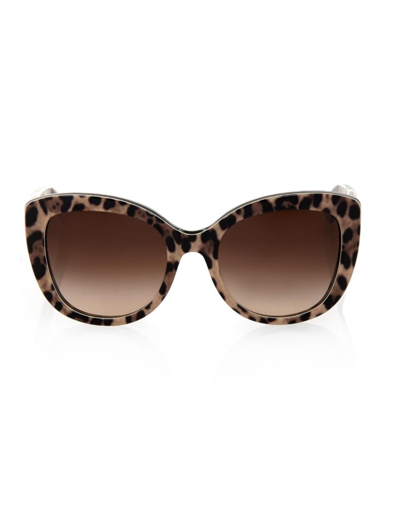 Leopard Print Cat Eye Sunglasses