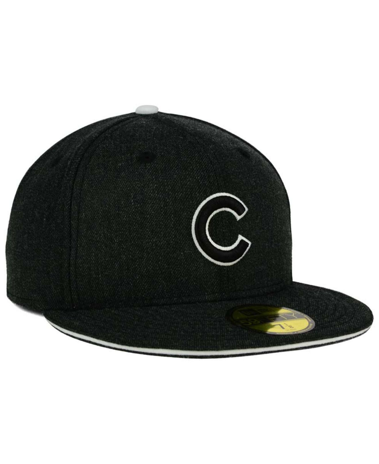 4db7d3eb2b2 Lyst - Ktz Chicago Cubs Heather Action 59fifty Cap in Black for Men