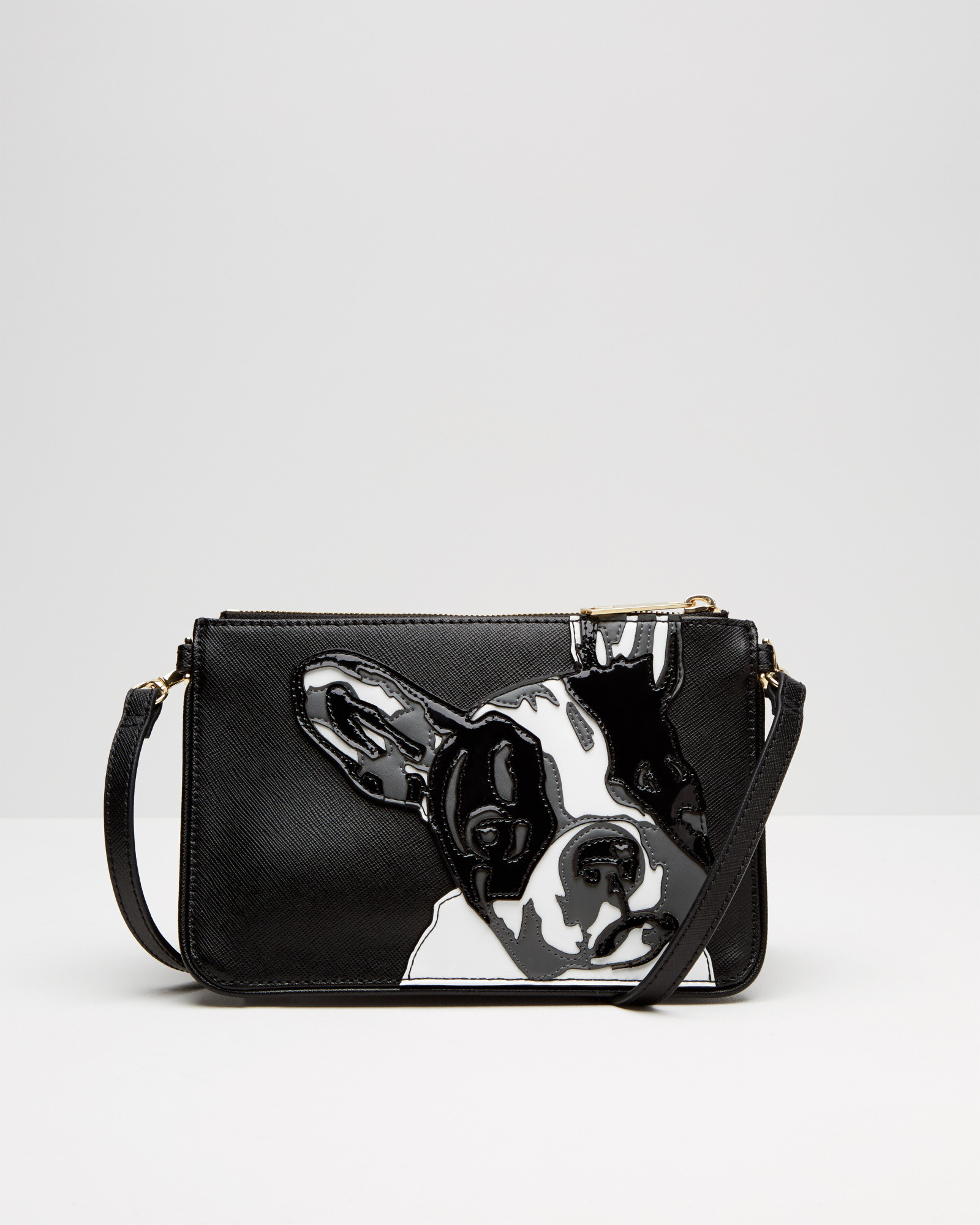 bulldog bags ted baker french bulldog cross body bag in black lyst 5279