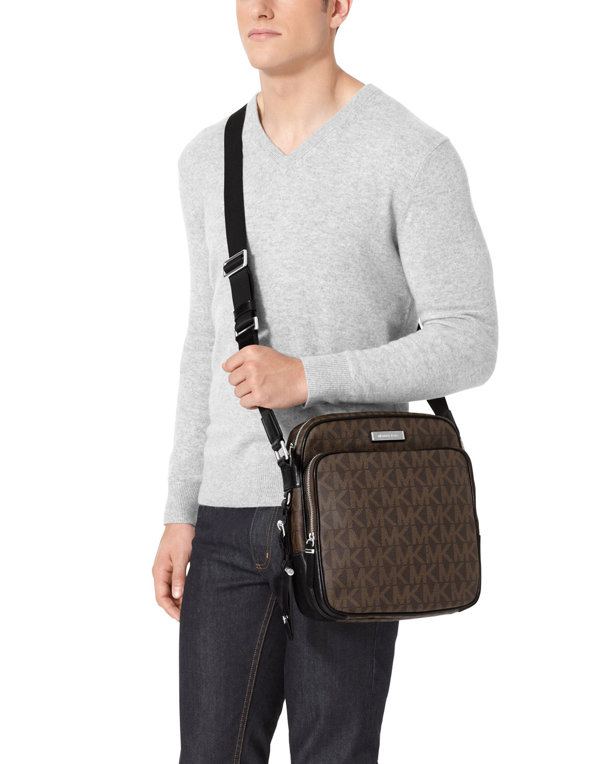 Michael kors Mens Large Jet Set Flight Bag in Brown for Men | Lyst