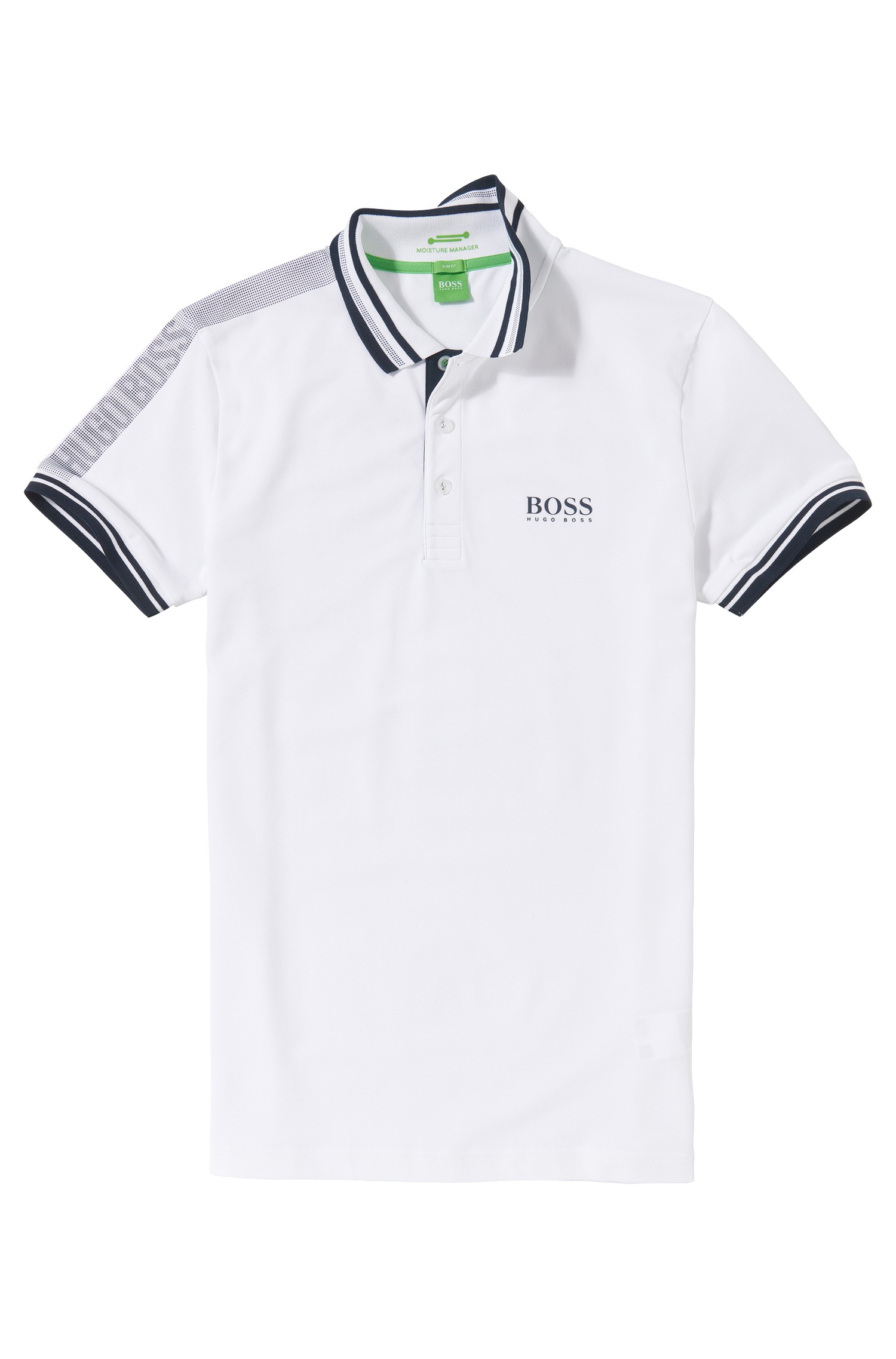 Boss green slim fit golf polo shirt 39 paule pro 39 with for Slim fit golf shirts