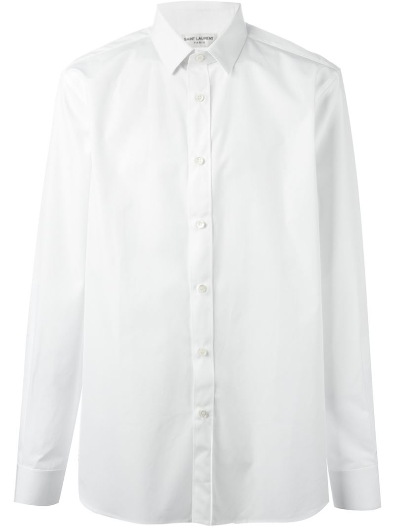 Lyst saint laurent classic formal shirt in white for men for Mens formal white shirts
