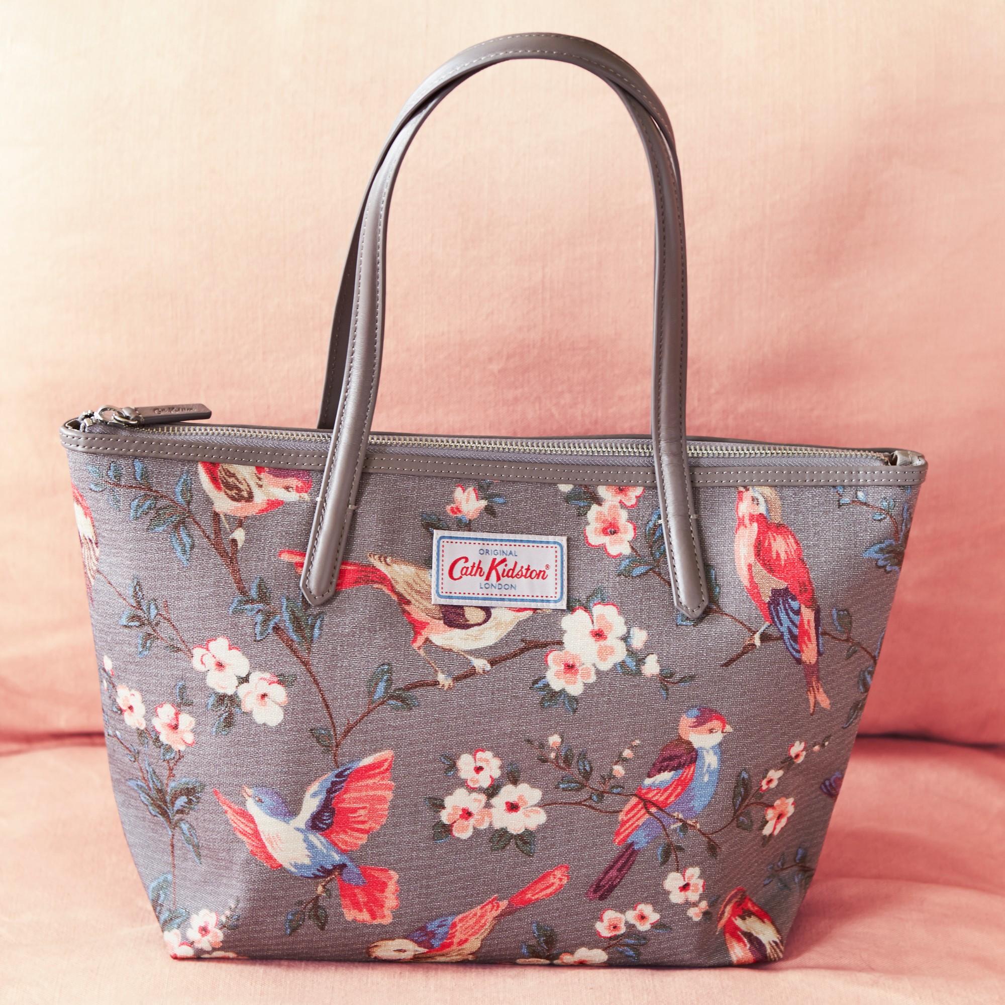 Cath kidston British Birds Tote Bag in Gray