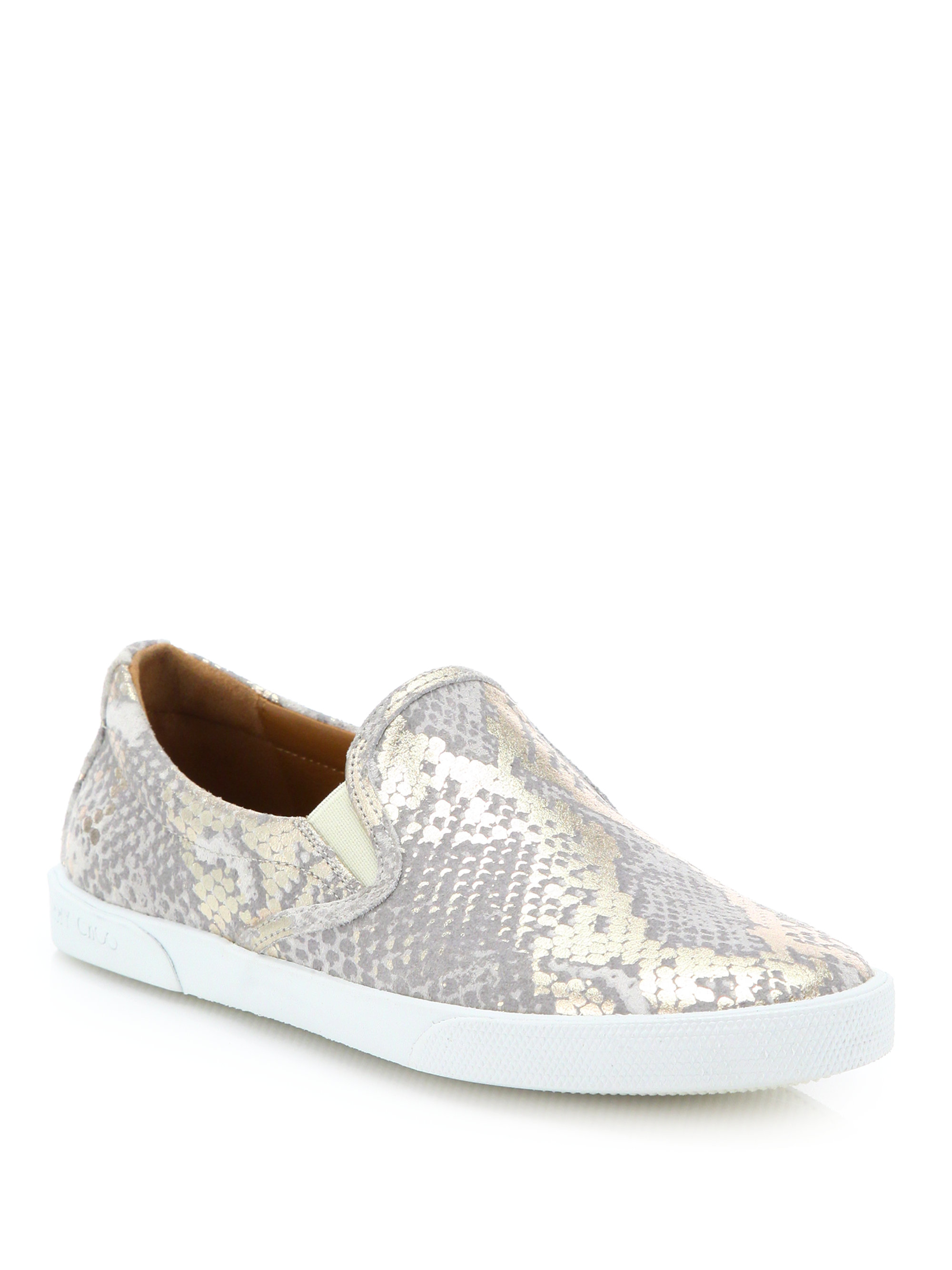 7f05f9c837 ... top quality jimmy choo leather snakeskin print sneakers 95463 a4261