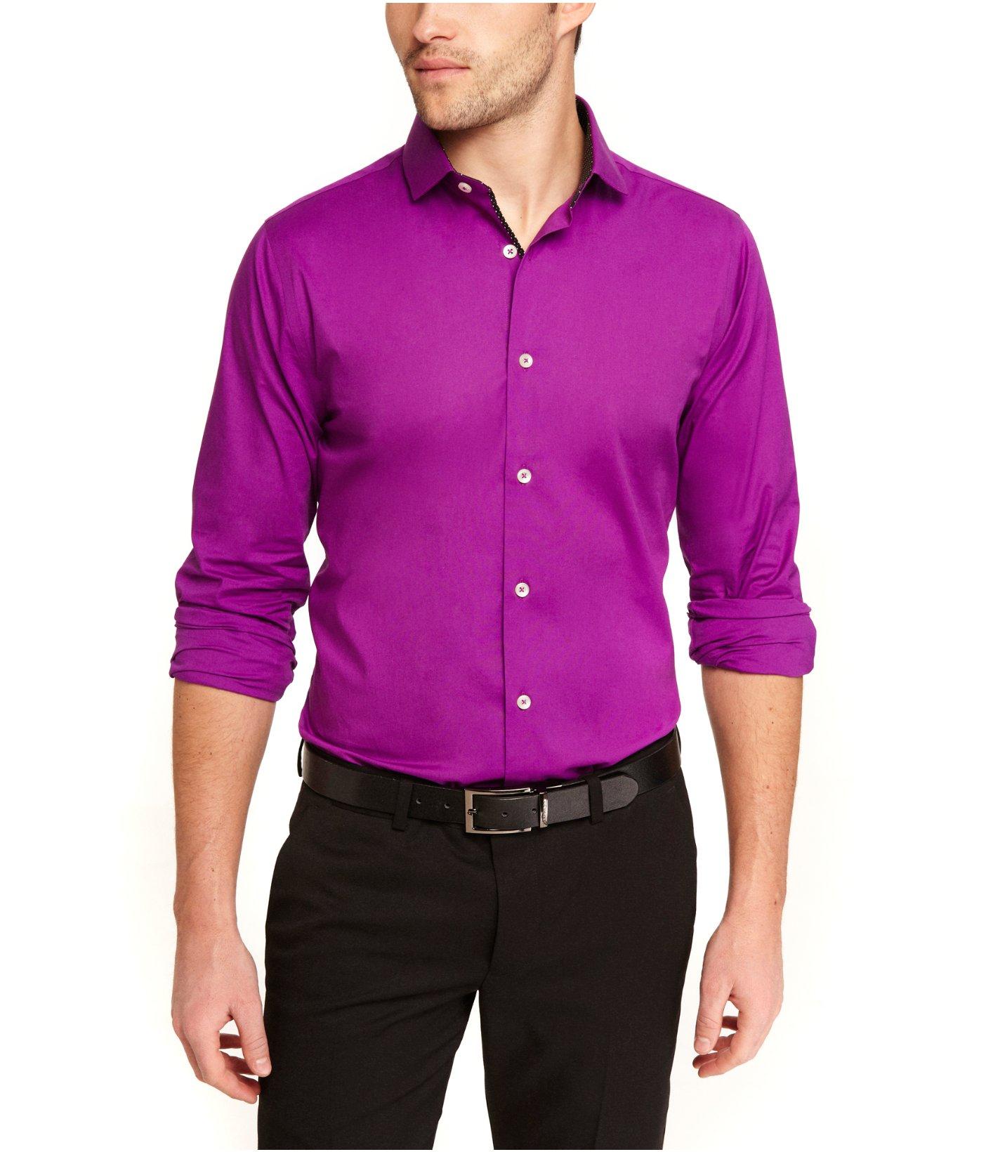 Express limited edition extra slim 1mx shirt dot trim in for Extra slim dress shirt