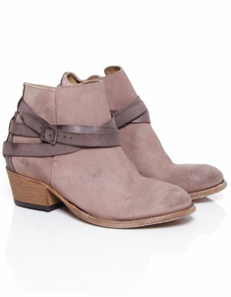H by hudson Horrigan Suede Boots in Pink   Lyst