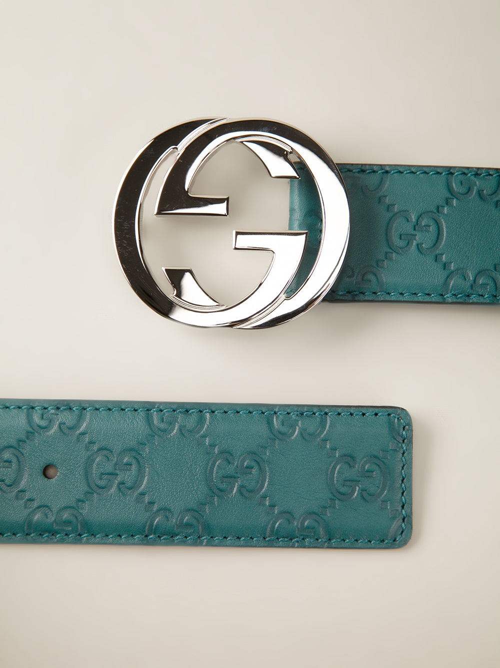 Gucci Logo Belt in Green for Men