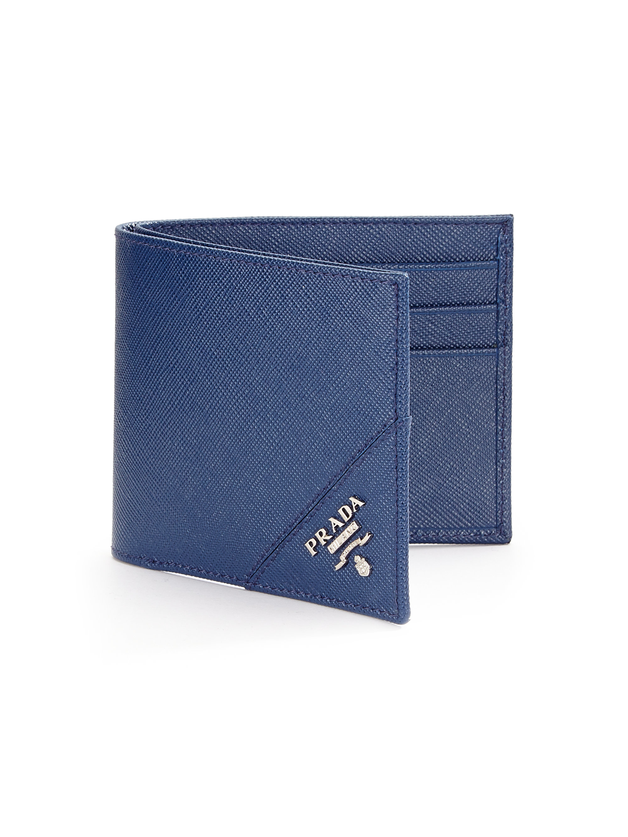 Prada Orizzontale Wallet in Blue for Men | Lyst
