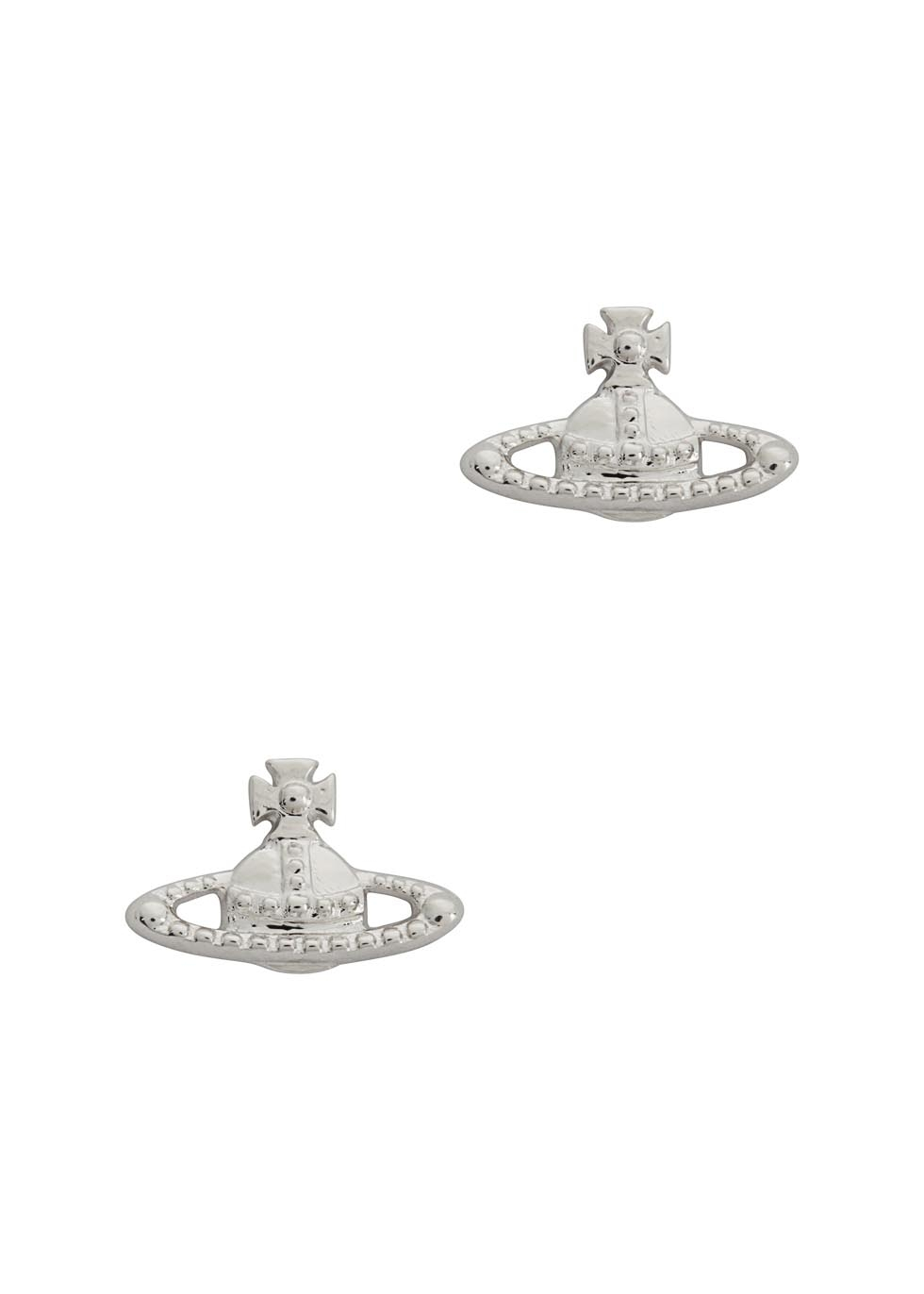 Lyst Vivienne Westwood Farah Silver Tone Orb Earrings In