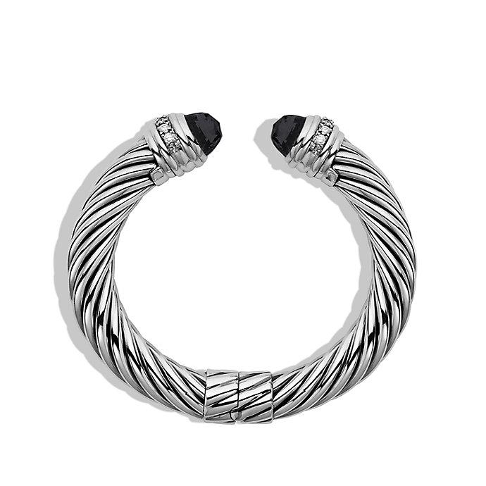 David Yurman Cable Classics onyx and diamond cuff bracelet - Metallic lkoa9H