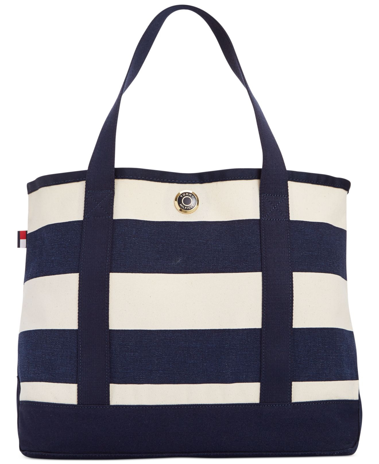 5cc757cf02 Tommy Hilfiger Th Totes Woven Rugby Stripe Small Tote in Blue - Lyst
