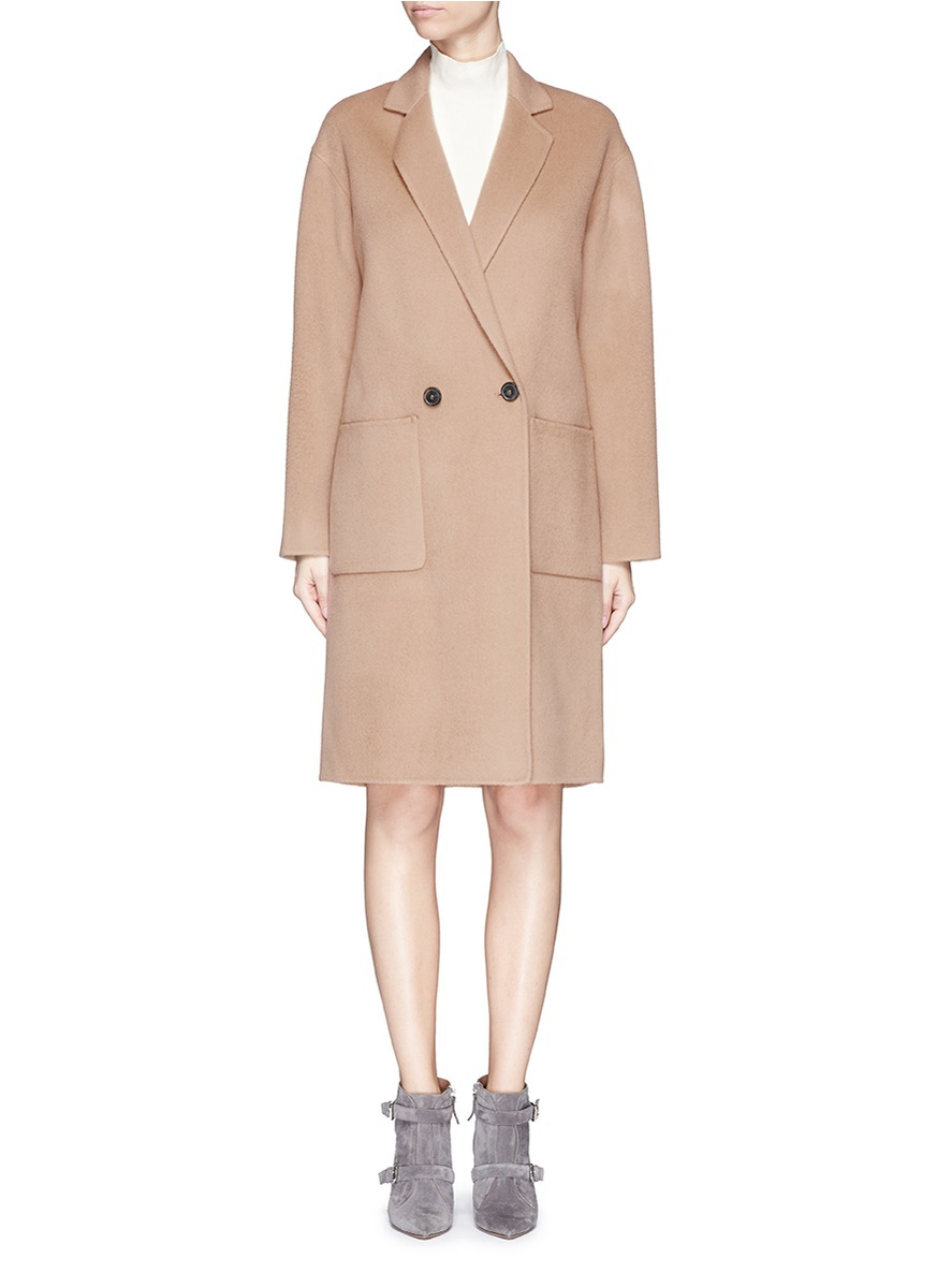 Theory &39eletkah Df&39 Wool-cashmere Coat in Brown | Lyst