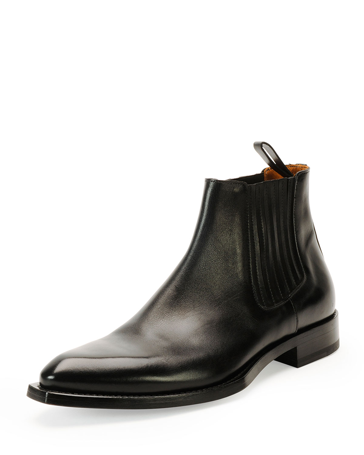 givenchy norberto leather chelsea boot in black for lyst