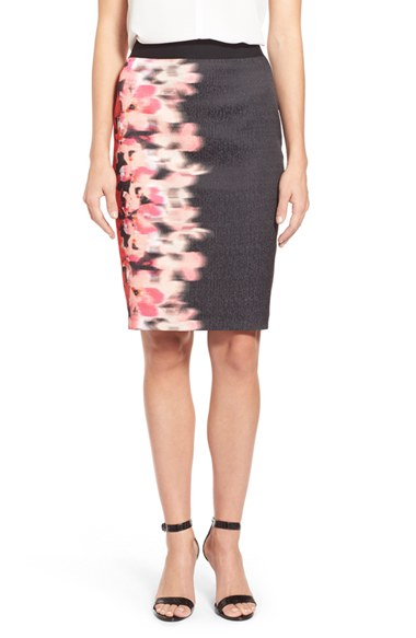T tahari 'kristina' Pencil Skirt in Pink