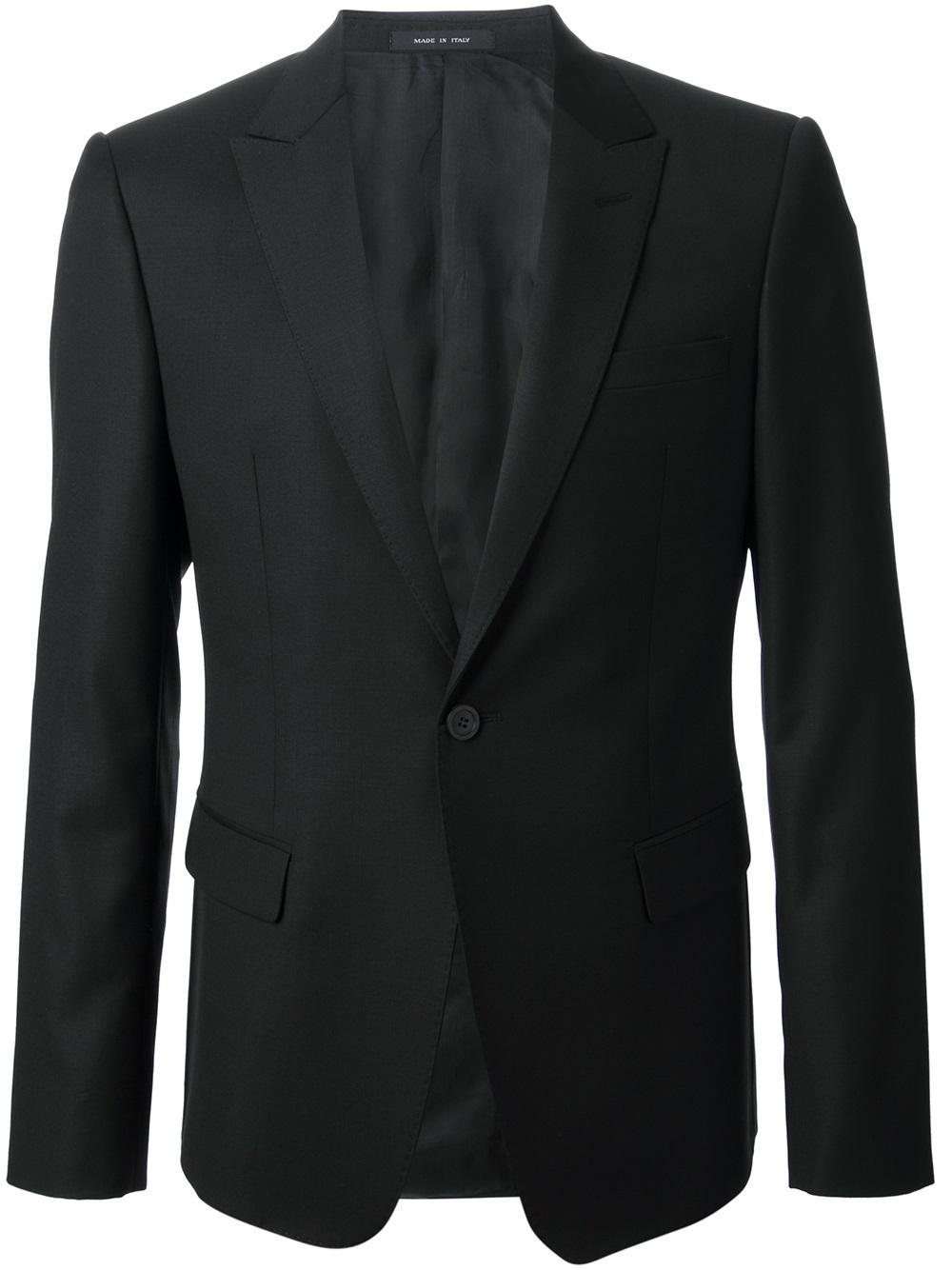 Emporio armani David Line Suit in Black for Men | Lyst