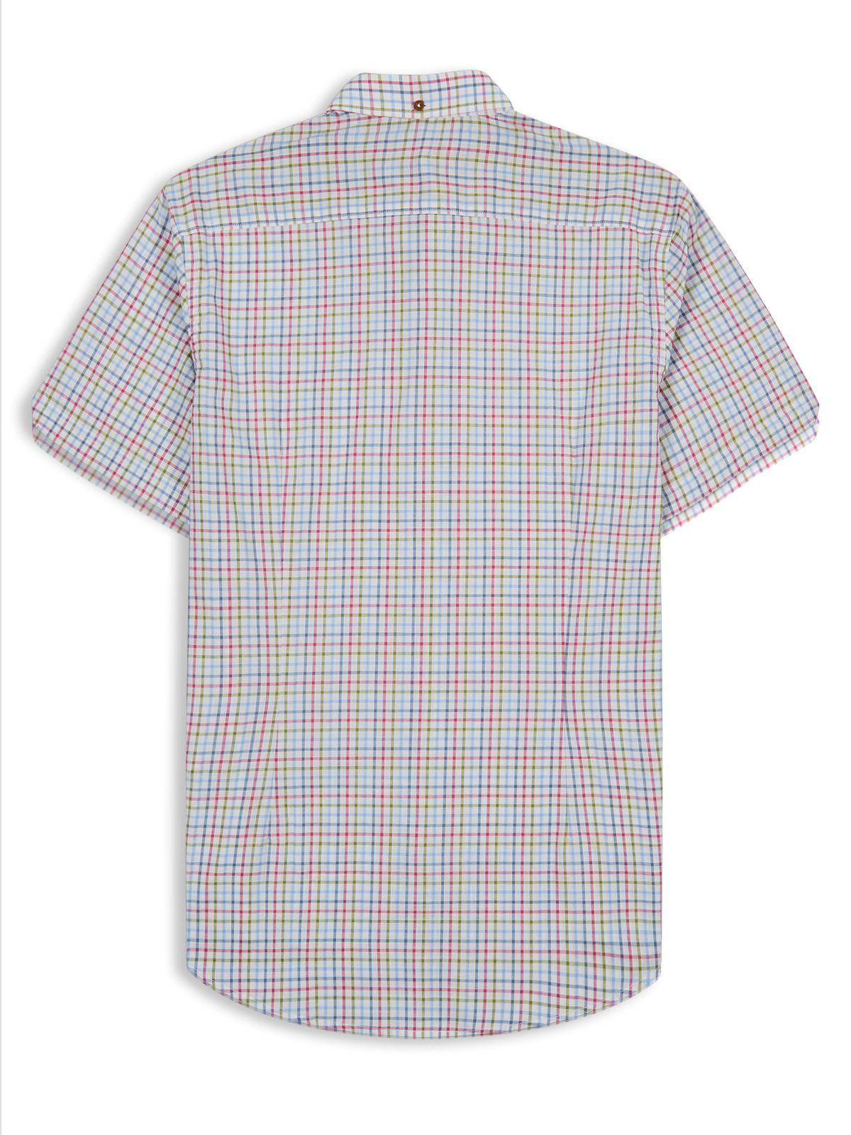 Ben Sherman Tattersal Check Shirt In White For Men Lyst