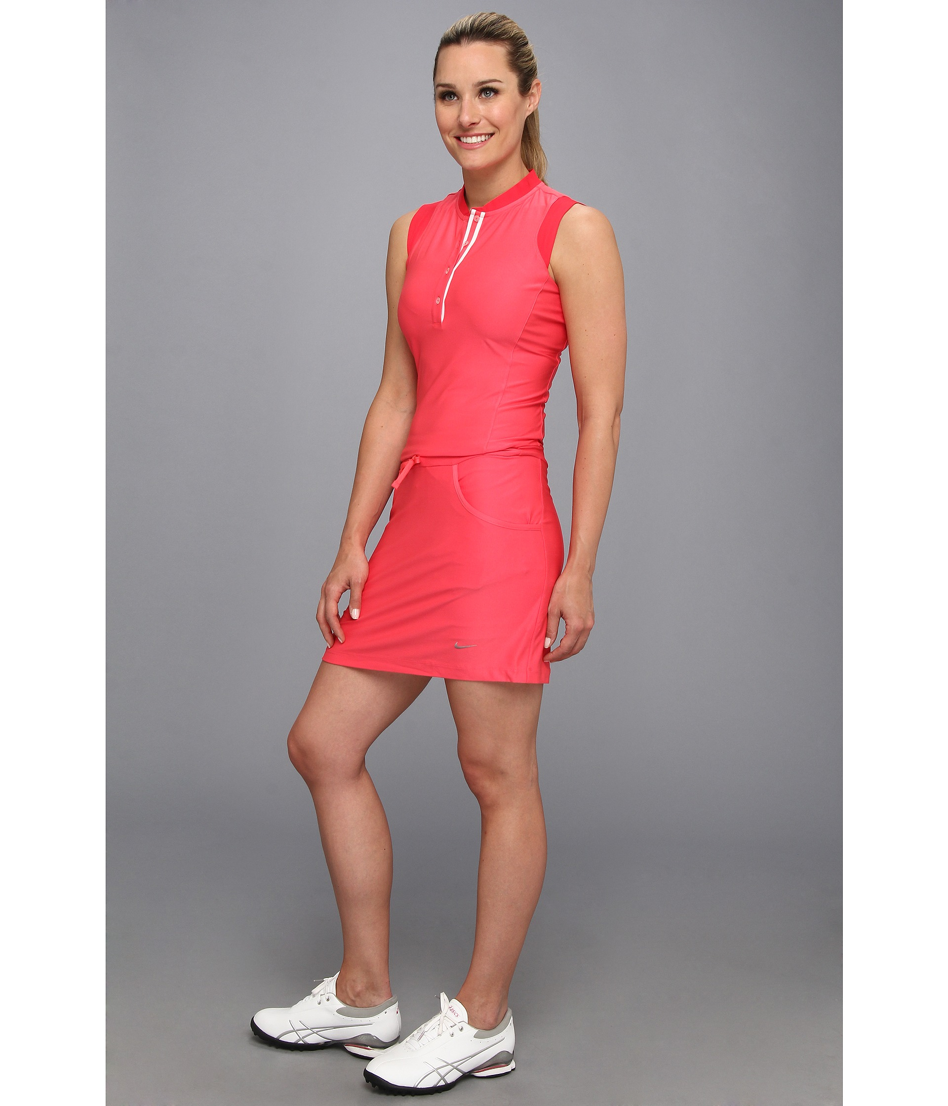 3e9ae18ae98330 Lyst - Nike Sleeveless Dress in Pink
