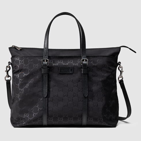 b59889090373 Lyst - Gucci Nylon Ssima Light Tote in Black