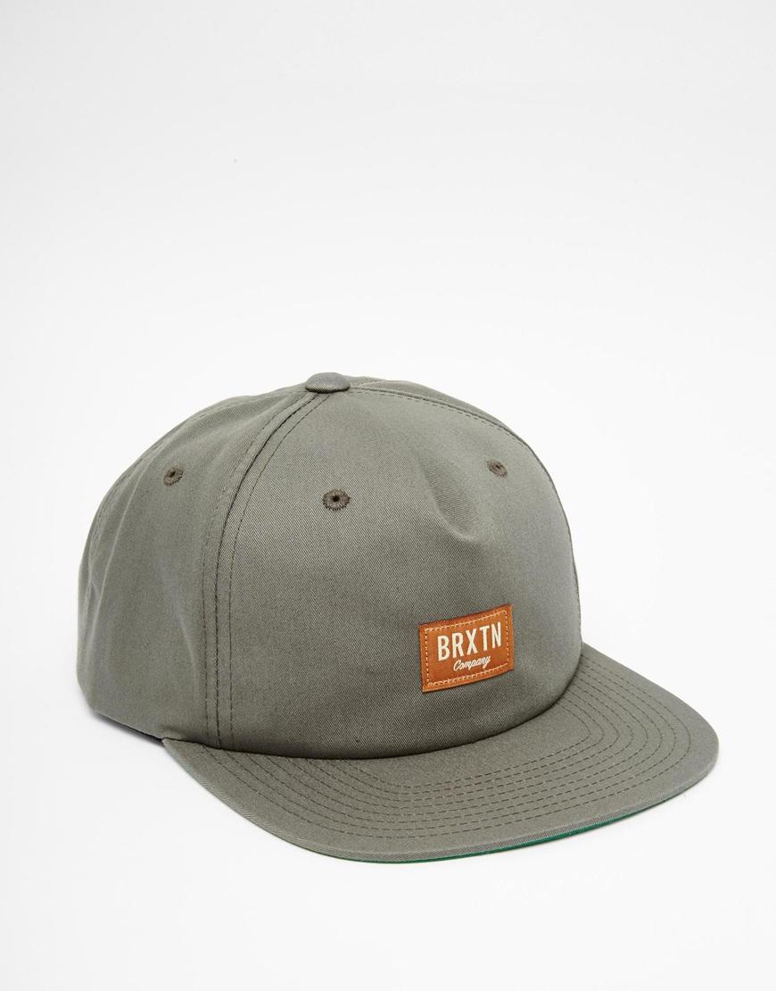 Lyst Brixton Hoover Snapback Cap In Gray For Men