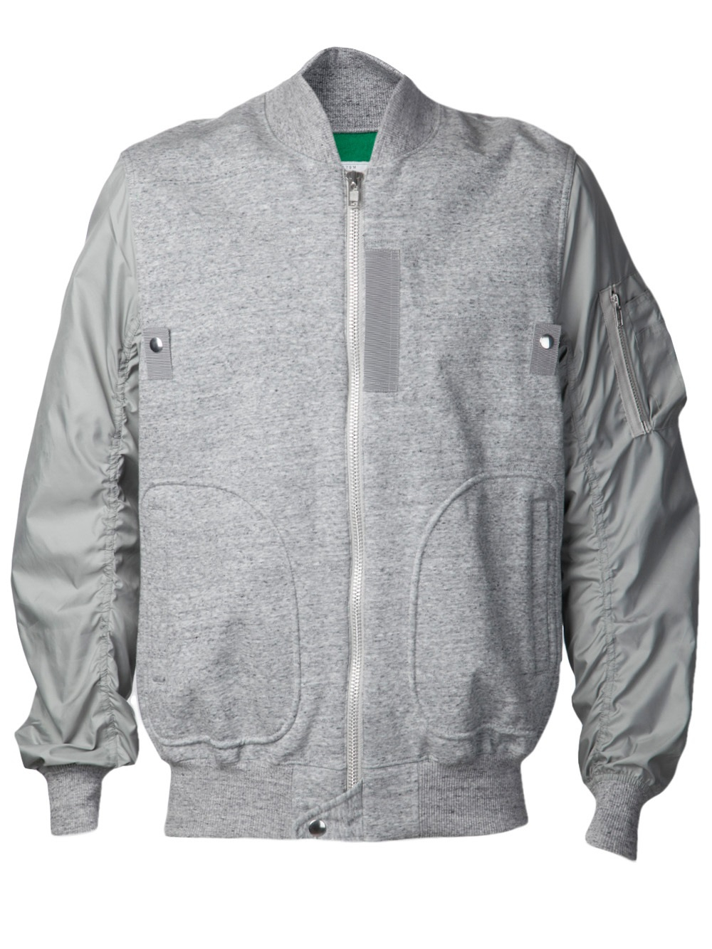 Lyst Sacai Contrast Sleeve Jacket In Gray For Men