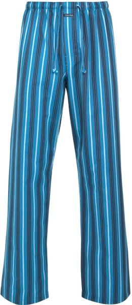 Calvin Klein Lang Striped Pyjama Pants In Blue For Men Lyst