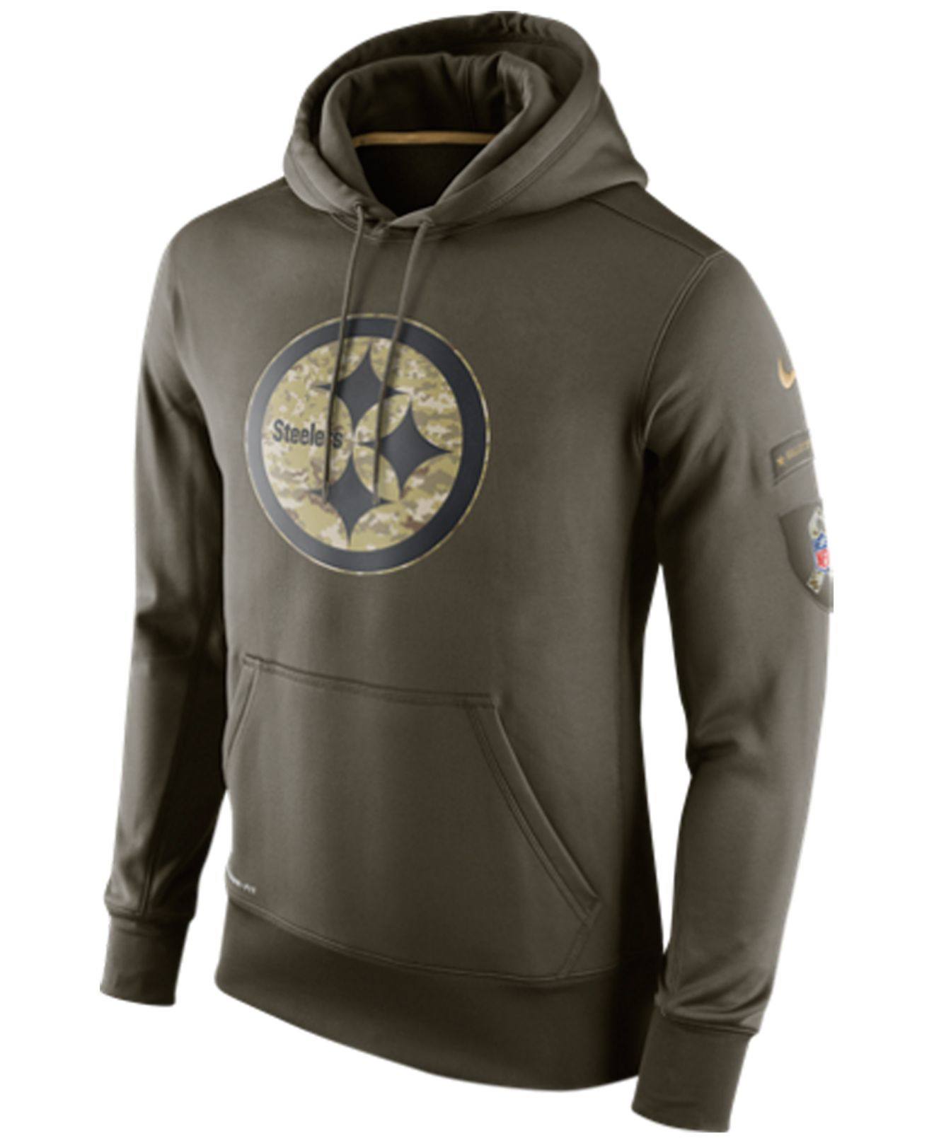 285becaf9 ... Nike Mens Pittsburgh Steelers Salute To Service Ko Hoodie in ...